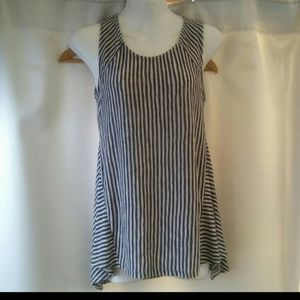 Anthropologie W5 Knit Sleeveless Striped Blouse, S